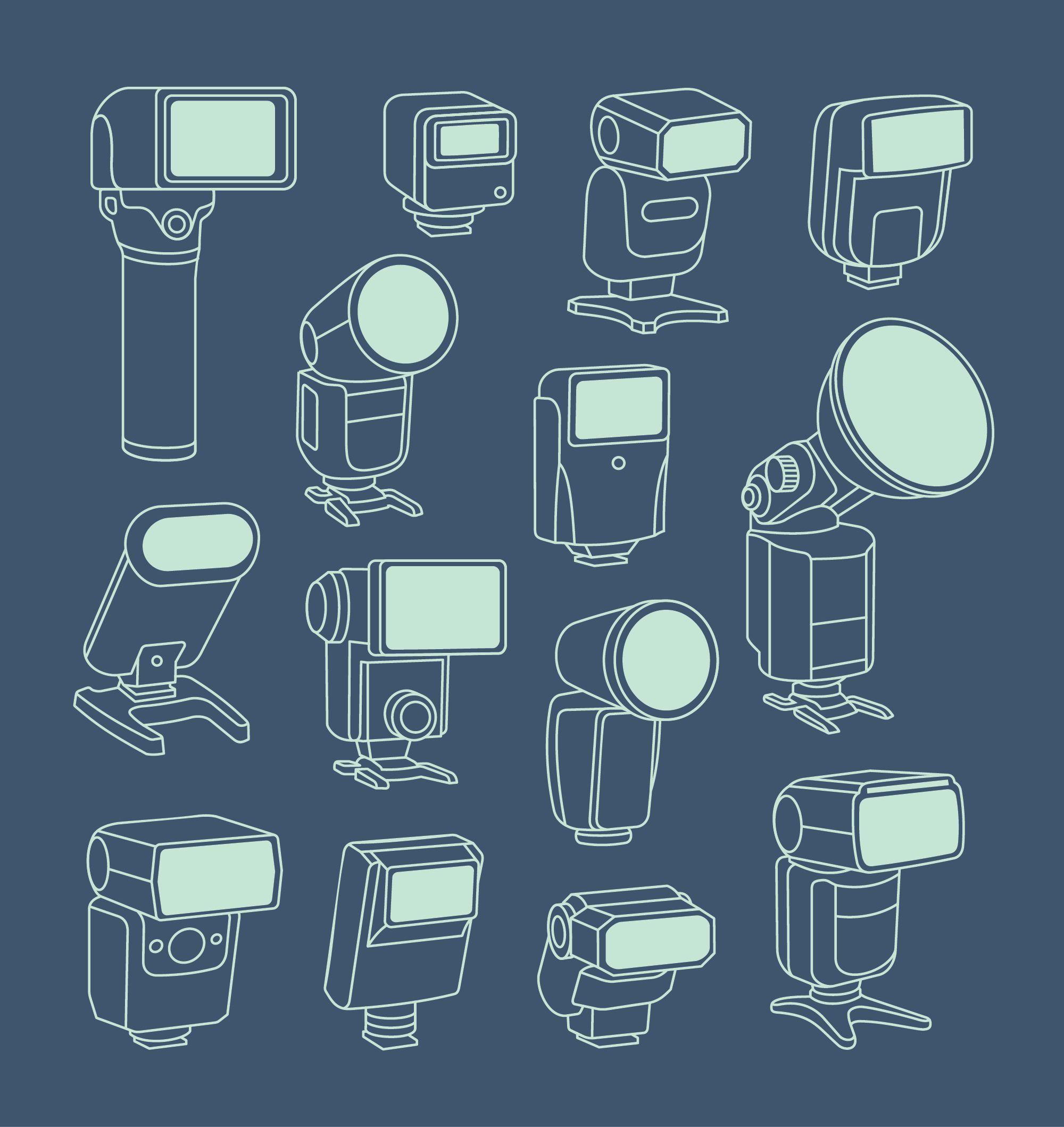 Camera Flash Illustrations
